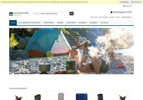 Screenshot van backpacking-united.com