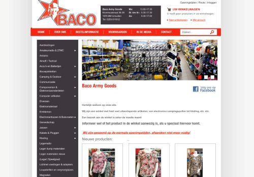 Screenshot van baco-army-goods.nl