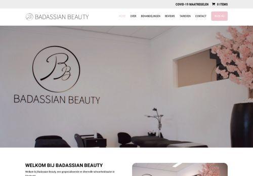 Screenshot van badassianbeauty.nl