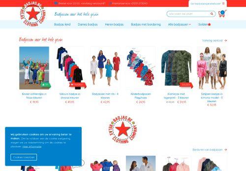 Screenshot van badjas.be