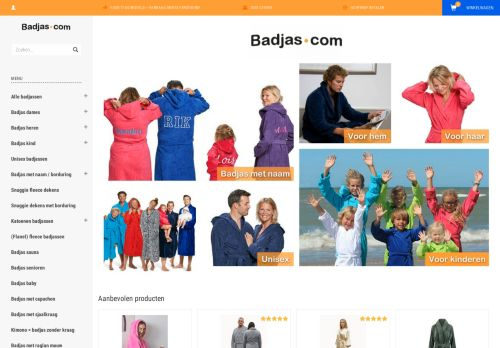 Screenshot van badjas.com