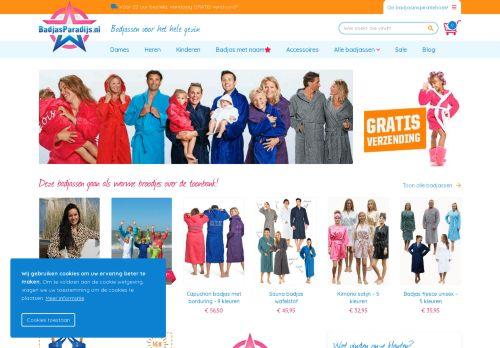 Screenshot van badjasparadijs.nl