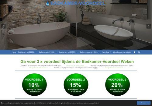 Screenshot van badkamer-voordeel.nl