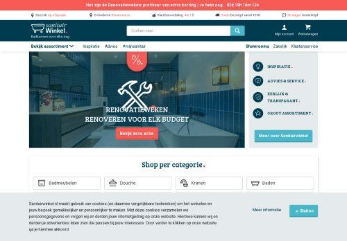 Screenshot van badkamermarkt.nl