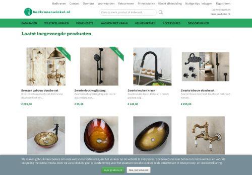 Screenshot van badkranenwinkel.nl