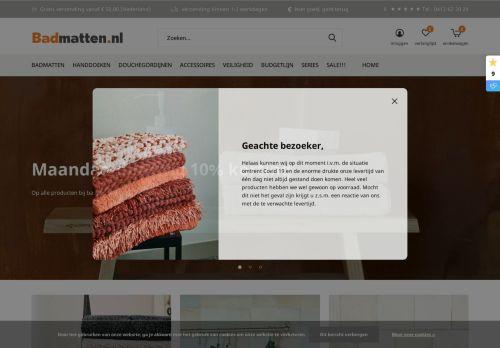 Screenshot van badmatten.nl