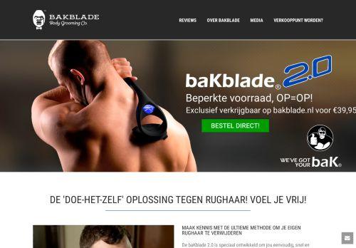 Screenshot van bakblade.nl