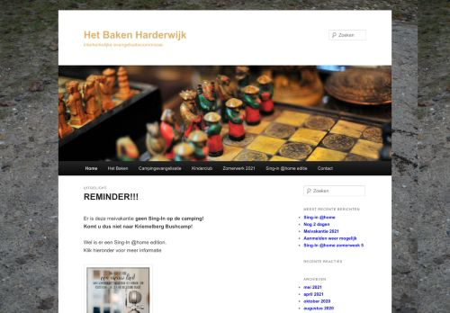 Screenshot van bakenharderwijk.nl