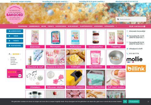 Screenshot van bakgoed.nl