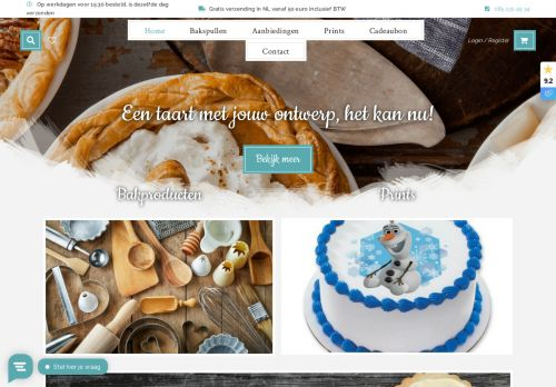 Screenshot van bakingqueen.nl