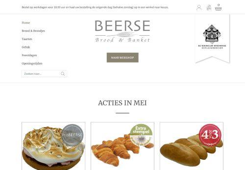 Screenshot van bakkerijbeerse.nl