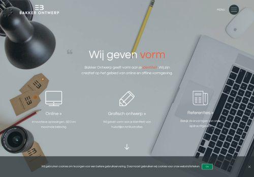 Screenshot van bakkerontwerp.nl
