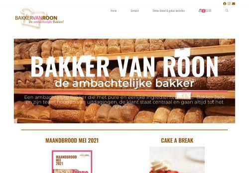Screenshot van bakkervanroon.nl