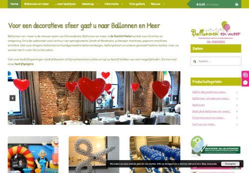 Screenshot van ballonnenenmeer.nl