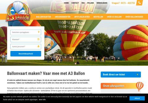 Screenshot van ballonvaren.com