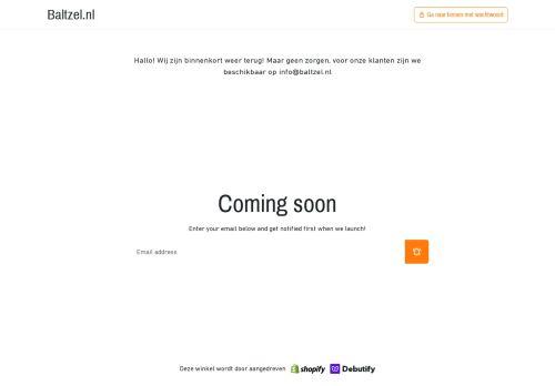 Screenshot van baltzelshop.nl