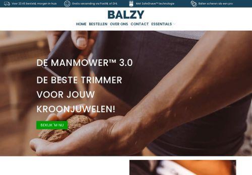 Screenshot van balzy.nl