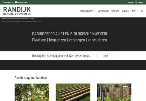 Screenshot van bamboe.nl