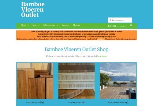 Screenshot van bamboevloerenoutlet.nl