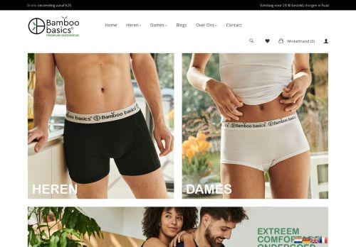 Screenshot van bamboobasics.com