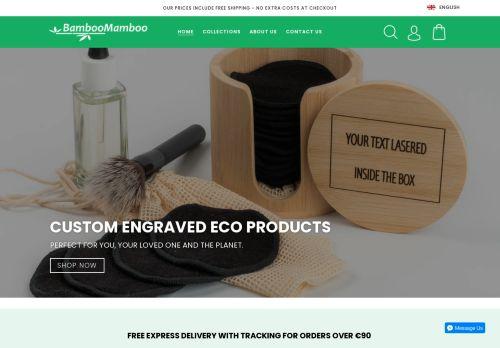 Screenshot van bamboomamboo.eu