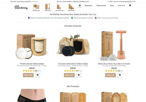 Screenshot van bamboozy.com