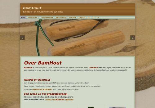 Screenshot van bamhout.nl