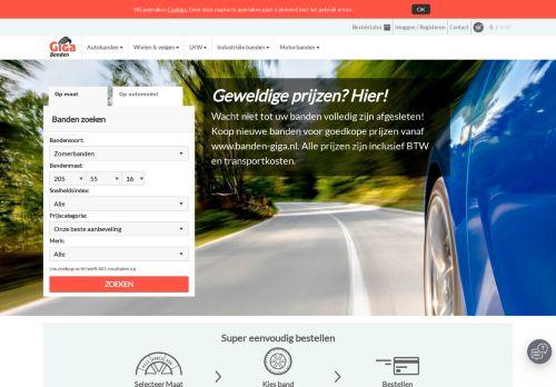 Screenshot van banden-giga.nl