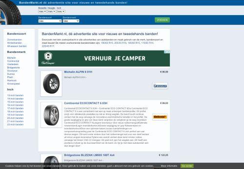 Screenshot van bandenmarkt.nl