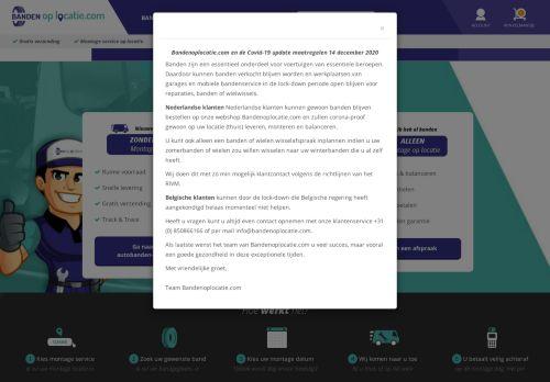 Screenshot van bandenoplocatie.com
