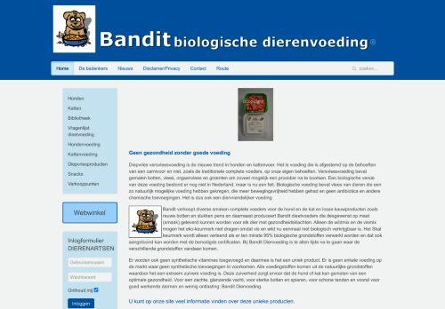Screenshot van banditvoeding.nl