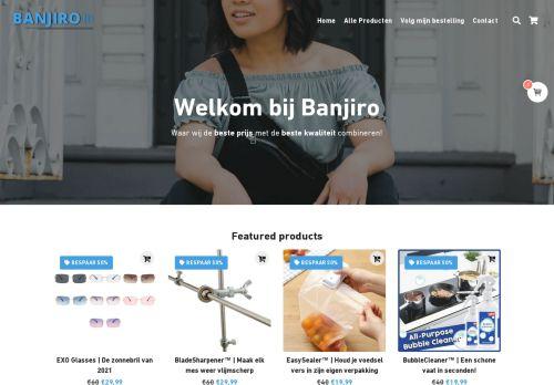 Screenshot van banjiroo.nl