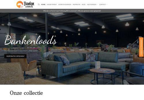 Screenshot van bankenloods.nl