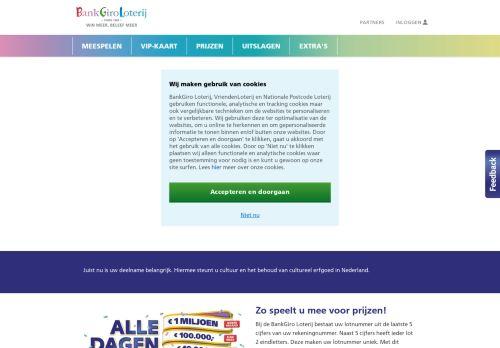 Screenshot van bankgiroloterij.nl