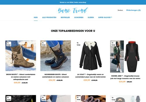 Screenshot van bano-trend.nl