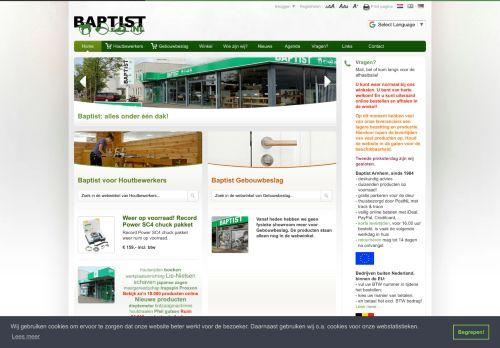 Screenshot van baptist.nl