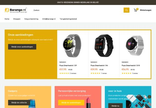 Screenshot van barango.nl