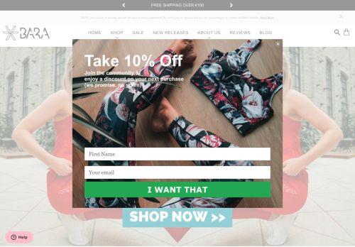 Screenshot van barasportswear.com