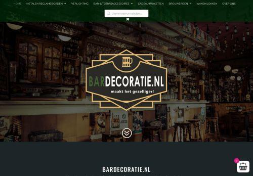 Screenshot van bardecoratie.nl