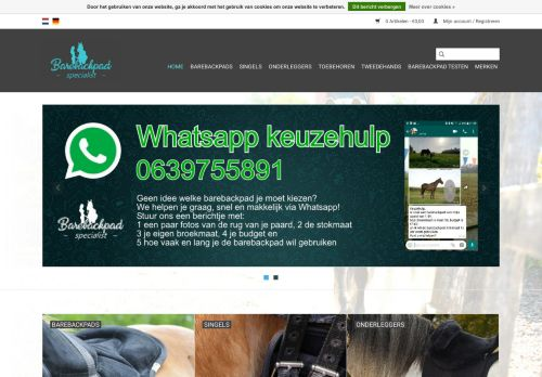 Screenshot van barebackpad-specialist.nl