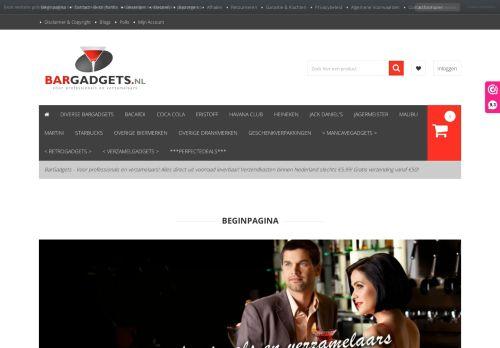 Screenshot van bargadgets.nl
