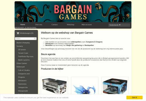 Screenshot van bargaingames.be