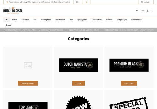 Screenshot van baristasite.com