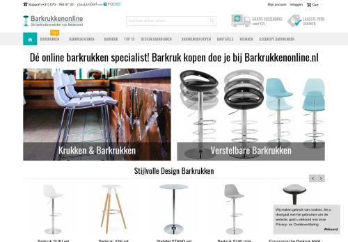 Screenshot van barkrukkenonline.nl