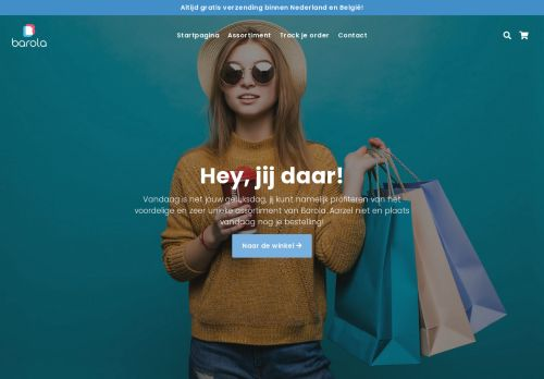 Screenshot van barola.nl