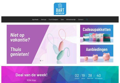 Screenshot van bartartikelen.nl