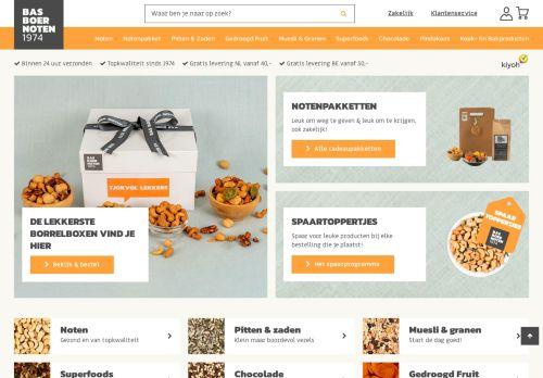 Screenshot van basboernoten.nl