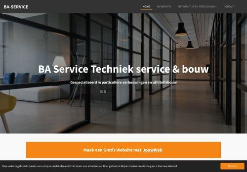 Screenshot van baservice.jouwweb.nl
