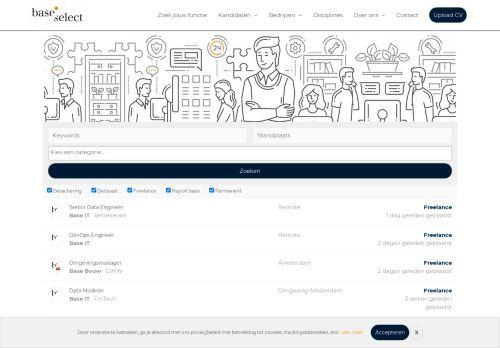 Screenshot van baseselect.nl