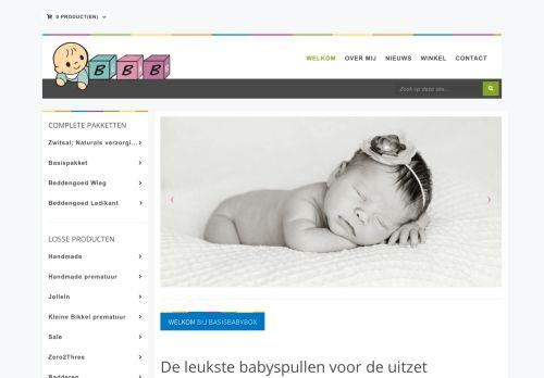 Screenshot van basisbabybox.nl